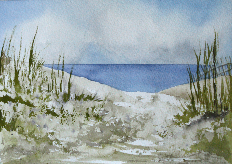 Mother nature in watercolors for Watercolor scenes beginners