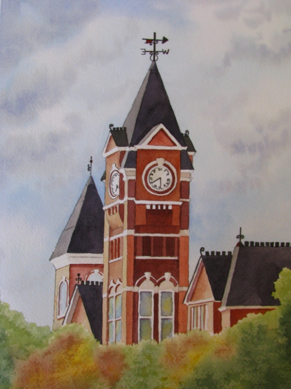 Samford Hall watercolor workshop
